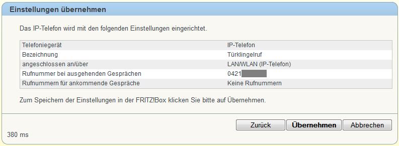 FRITZ!Box IP-Telefon